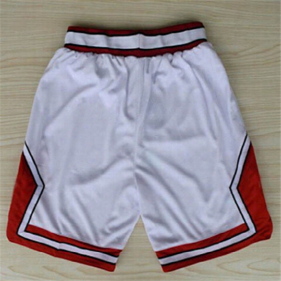 Chicago Basketball Shorts Stitched Logo Embroidery New Material Rev 30 Sports Shorts Mix Order Free Shipping