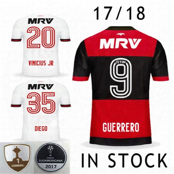 Correct Version New Font Cr Flamengo 17 18 Flamengo Jersey Brasileiro Flamengo Jersey 2017 2018 Brasil Guerrero Diego Vinicius Jr