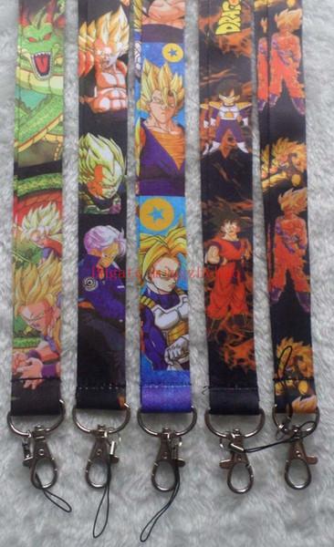Dragon Ball Z Anime Lanyard Dragonball Keychain Id Badge Protector Key Holder 30 Pcs