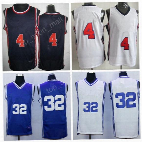 Duke Blue Devils College 32 Christian Laettner Jersey 1992 Usa Dream Team 4 Christian Laettner Basketball Jerseys Navy Blue With Player Name