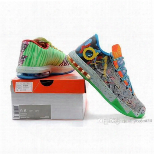 Factory Basketball Shoes Kd Vi What The Athletics Shoes Kd Shoes Kd Vi 6 Sports Shoes Trainers Sneaker Boot For Mid Cut Shoes For Long Run