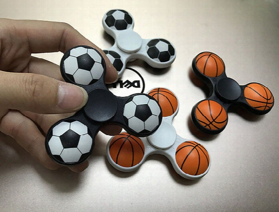 Fidget Soccer Fidget Spinners Fidget Toys New Design Creative 3d Football Basketball Volleyball Designs Hand Spinner Anti Stress Toys