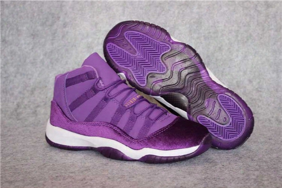 Free Shipping Air Retro 11s Xi Purple Velvet Heiress Wholesale Women Men Basketball Shoes Size Us5.5-13