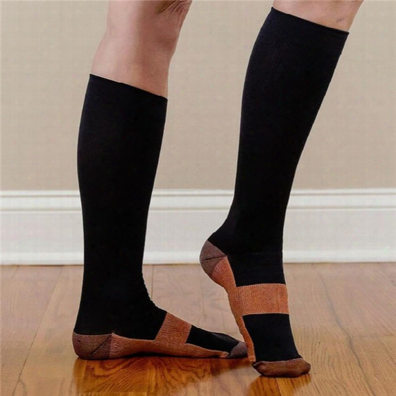 Free Shipping New Miracle Copper Anti-fatigue Compression Socks Soothe Tired Achy Unisex Women Men Anti Fatigue Magic S/m L/xl
