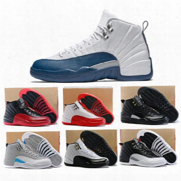 High Quality 12s Basketball Shoes Men Women 12 Flu Game French Blue 12s The Master Gym Red Taxi Playoffs Boy Youth Basketball Shoes