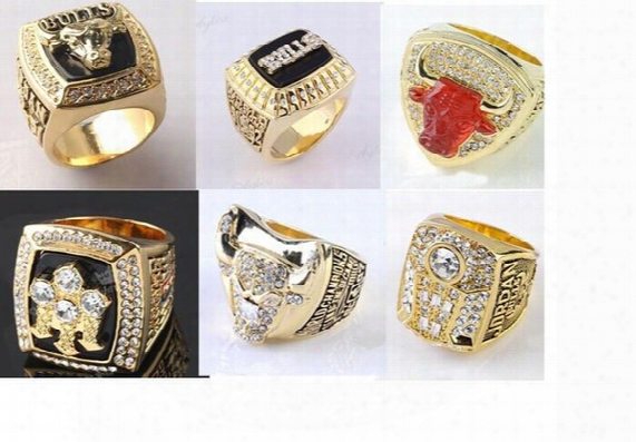 High Quality 1991/1992/1993/1996/1997/1998 Whole Championship Basketball Bulls Replica Championship Ring For Fans