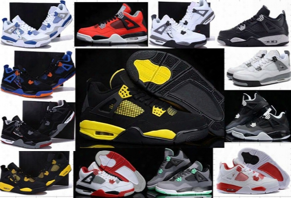 High Quality 4s Basketball Shoes 4s Sports Shoes Brand Designer Retro 4 Iv Men Women Basketball Shoes Cheap 4s Sneakers 5-6-7-9-0-11-12-13
