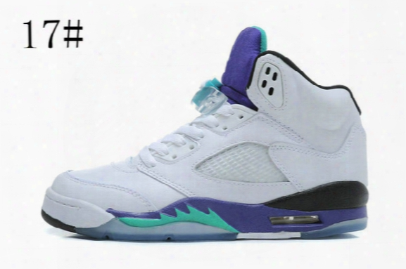 High Quality Air 5 Retro White Grape Ice 2013 New Emerald V Purple Men Baksetball Shoes Discount Air 5s Olympic Mens Sport Sneakers