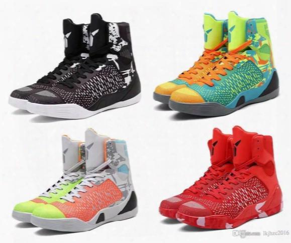 High Quality Kobe 9 Elite Black Mamba Blackout Bhm Christmas Men Basketball Shoes Kb 9 Ix High Sneakers With Box