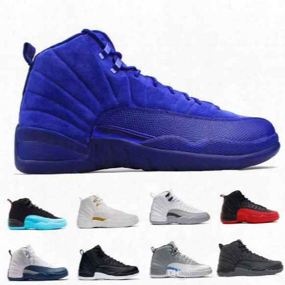 High Quality Man Basketball Shoes Air Retro 12 French Blue Playoff Ovo White Cherry Red Barons Flu Game Wool Sport Sneaker Boots