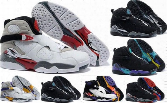 High Quality Retro 4-5-6-7-8-9-11-12-13 Basketball Shoes Wholesale Retro 8 Viii Men Sports Shoes Man Retro 8s Sneakers Size 40-47 With Box