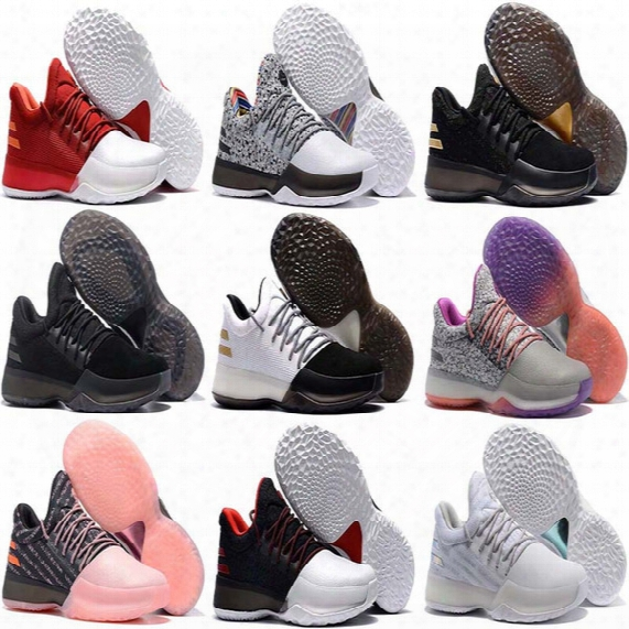 Hot Sale Harden Vol. 1 Men Basketball Shoes James Harden Vol. 1 Home Bw0547 Jh13 Rocket Red White Gs Boost Shoes Sneakers 40-46
