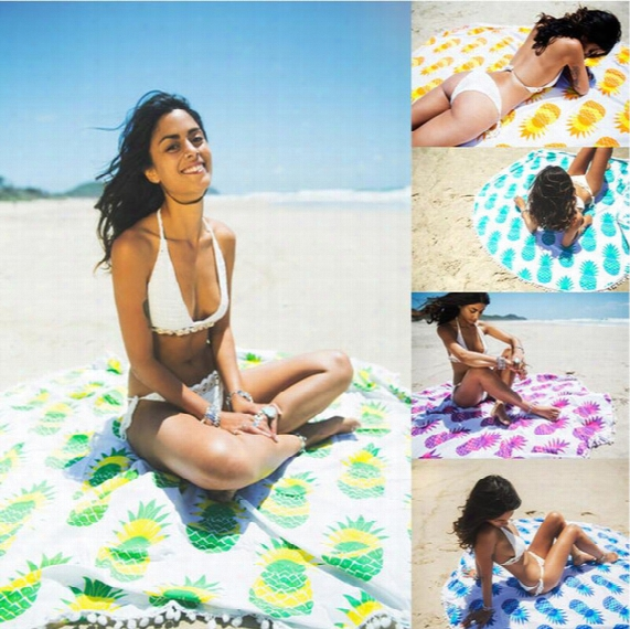Indian Round Mandala Tapestry Outdoor Picnic Blanket Beach Towel Throw Yo-ga Mat Pineapple Series Of Beach Towel