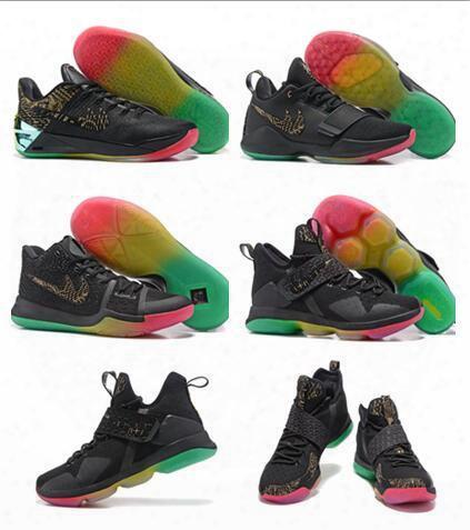 James Lbj 14 Kobe 12 Kd 9 Kyrie Irving 3 Paul George Pg 1 Basketball Shoes For Men Ventilation Training Basketball Sports Sneakers