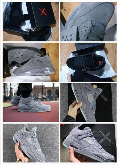 Kaws X Air Retro 4 Xx Kaws Cool Grey White Glow Men Basketball Shoes Men Shoes Retro 4s White Blue Black Sports Sneakers