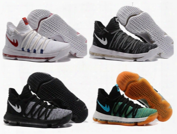 Kd 10 Oreo Still Kd Anniversary Black Green Basketball Shoes Sneakers Kd10 Mens Sport Shoes Kevin Durant 10 New Shoes 2017 Us 8-13