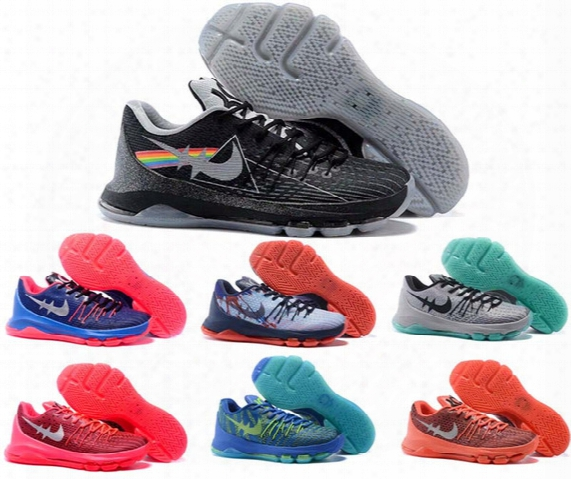Kevin Durant Kd 8 Men Basketball Shoes High Quality Outdoors Sports Sneakers Athletic Shoes For Mens Fashion Basketball Boots Size Eur 40-46