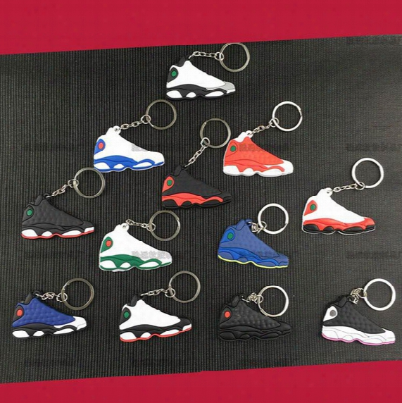 Keychain Shoes Mold Pendant Basketball Shoes 3d Key Chains Nmd Keychain Creative Gift Key Ring K06
