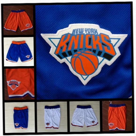 Knicks New York Mens Basketball Shorts Top Sell Breathable Sweatpants Teams Sportswear Basketball Pants Home Road Fast Shipping
