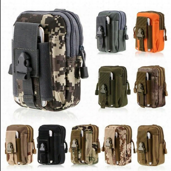 Large Capacity Outdoor Sports Tactical Molle Pouch Waterproof Nylon Belt Waist Pack Bag Pocket Iphone Camping Hiking Running Pouch Wallet