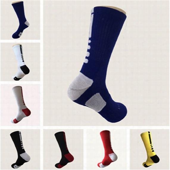 Men Basketball Sport Socks Mens Knee High Sports Socks Usa Professional Elite Long Athletic Compression Thermal Sock Wholesales