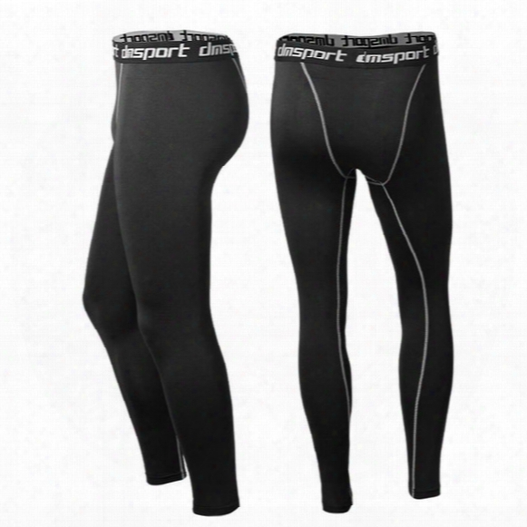 Men's Pro Sports Outdoor Leggings Basketball Jogging Compression Base Layer Skin Tights Quick-dry Pant Cycling Fitness Trousers