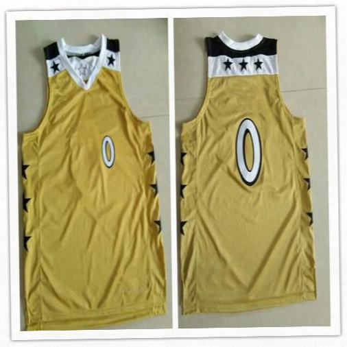 Mens #0 Gilbert Arenas Basketball Jersey Double Stitching Custom Embroidery Any Name And Number