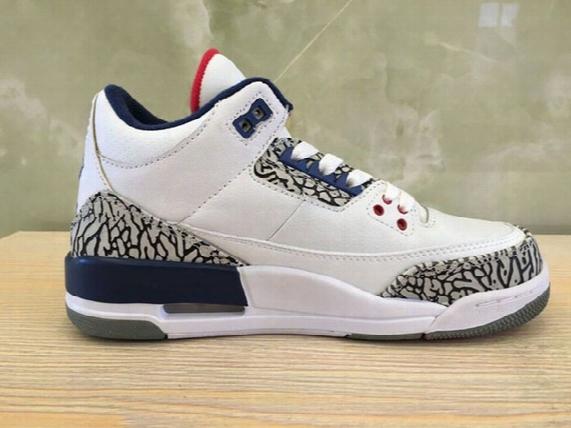 Mens Basketball Shoes Og True Blue 3s Womens Shoes Outdoor Athletic Air Trainer Retro 3