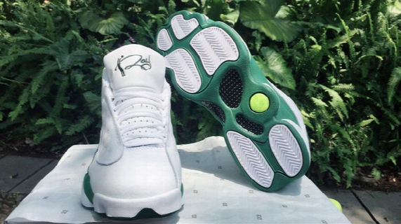 New 2017 Xiii 13 Retro Ray Allen Celtics Promo White Clover Green 11 13s Mens Sport Shoes Wholesale Brand Free Shipping