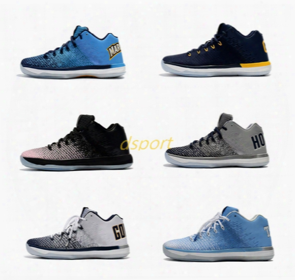 New Arrival Retro 31 Xxxi Low George California Michigan 31s Basketball Shoes Retro 31 Training Sports Sneakers Size 7-12