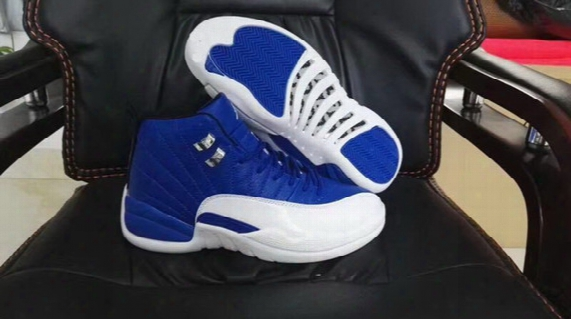 New Arrived Retro 12 French Blue Men Basketball Shoes 12s Flu Game Black Varsity Red Sneaker Sports Shoes High Quality With Socks