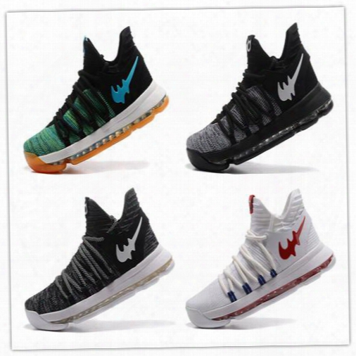 New Kd 10 Oreo Basketball Shoes Anniversary Colorway Top Quality Mens Shoes For Men Athletic Sport Sneakers With Box Fast Delivery