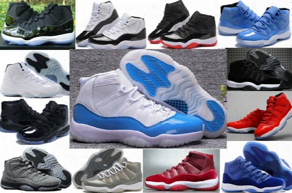 New Retro 11 Xi 11s Basketball Shoes Women Men Retros Space Jam 11s Xi 72 Bred White And Blue Sneakers Original Sports Shoes With Box 36-47