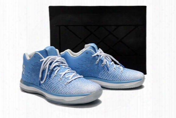 New Retro 31 Xxxi Low Unc White Blue Mens Basketball Shoes Men Pantone 31s Sports Sneakers 2017 For Sale