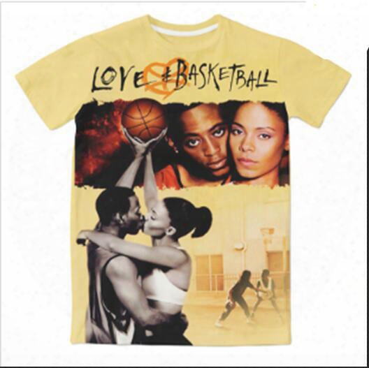 Newest Fashion Womens/mens Love _ Basketball Classic Funny 3d Sublimation Print Casual T-shirt Xtx030