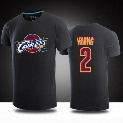 Plus Size 3xl Summer Irving T Shirt Men Fashion 100% Cotton Male Summer Top Tee Basketball Tees Short Sleeve Tshirt