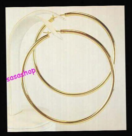 Promotion Price!! 3''/4'' Large Hoop Earrings Basketball Wives Earrings Round Earrings 24 Pairs