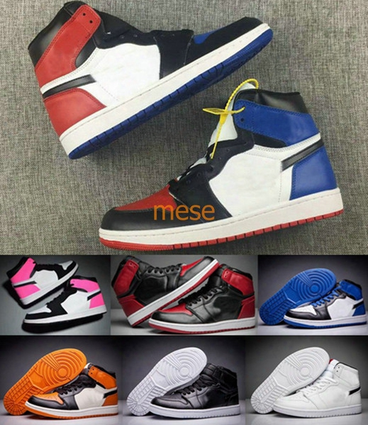 Retro 1 Basketball Shoes Men Women Banned Bred Top 3 Valentines Day Retros 1s High Quality Original Shoes Sport Us 5-13