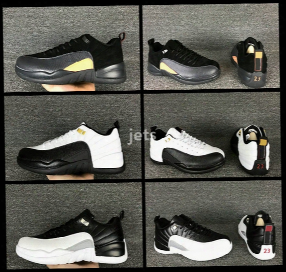 Retro 12 Low Playoffs Taxi Basketball Shoes Men 12s Low Georgetown Toro Blzck Olive Suede Sports Sneakers High Quality With Shoes Box