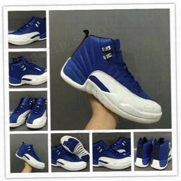 Royalblue Air 12 Retro Mens Basketball Shoes Blue-white 2017 Good Quanlity New Xiii Sneaker Jump Man Sports Shoes On Sale Us 7-13