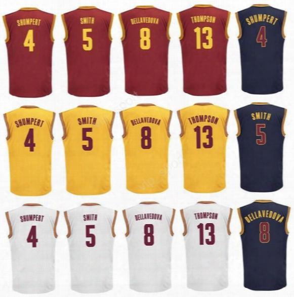 Sale 5 Jr Smith Jersey Men Printed Sport 8 Channing Frye 4 Iman Shumpert Basketball Jerseys 13 Tristan Thompson Red White Yellow Blue