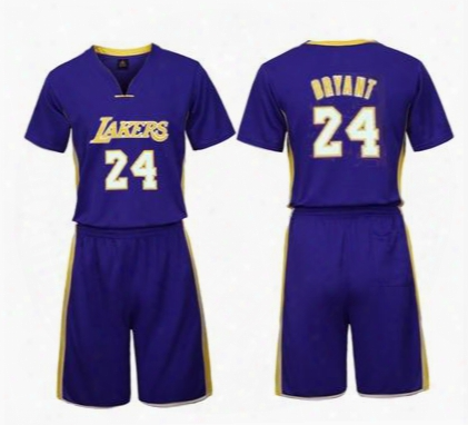 The 2017 Short-sleeved Basketball Suit Casual Sport Men's Shirt Set Prints The Name And Number