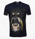 2016 new fashion brand men's short-sleeved summer men's cotton men dog printing T-shirt round neck t shirts