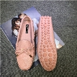 Brand Girls Big Size US 9 10 11 Eur 41 42 Genuine Leather Bowtie Driving Moccasin Slip On Loafer Pregnant Women Ballet Flats Casual Shoes