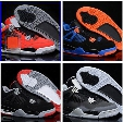 High quality retro 4 white cement green glow bred thunder mens basketball shoes sneakers classic blue orange high cut sports shoes