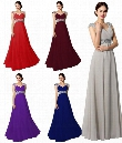 Shining Crystal Beaded Evening Gowns Chiffon A line Floor Length Navy Blue Unique Dark Purple Bridesmaid Dresses Off Shoulder Prom Dresses