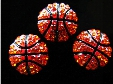 wholesale rhinestone basketball 8mm SLIDE charms for charm bracelet