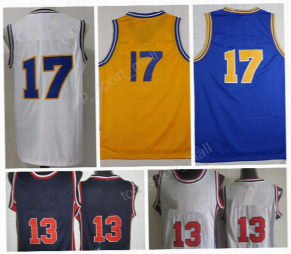 Top Quality 17 Chris Mullin Throwback Jerseys 1992 Usa Dream Team Retro Basketball 13 Chris Mullin Jersey Yellow Blue White With Player Name