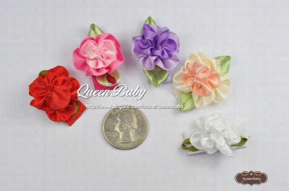 Trial Order Infant Hair Clip Mini Flower Snap Clip Baby Girl Snap Clip For Toddlers And Children 100pcs/lot Queenbaby