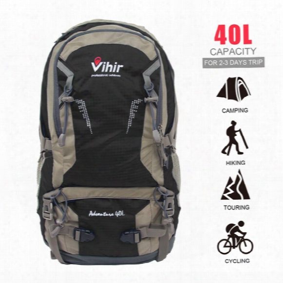 Vihir Outdoor Multi-function Nylon Waterproof Hiking Professional Luxury Backpacks Fashion With Rain Cover 40l Sports Bags
